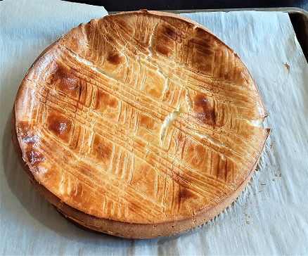 galette franc-comtoise - a mix between flan and chou pastry - after baking