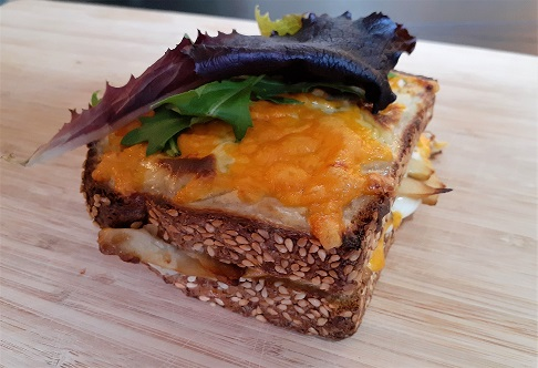 Vegetarian croque-monsieur