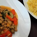 Morrocan tagine with turneric rice