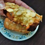 Bostocks- baked brioche with almond cream