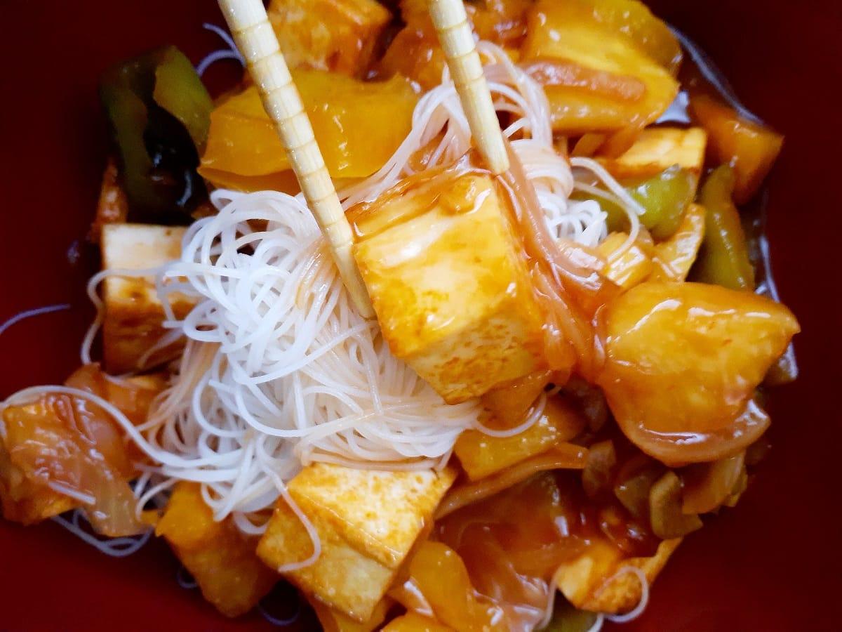 Vegan Pineapple Tofu