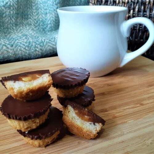 Chocolate, caramel, peanut cups - smooth & crunchy