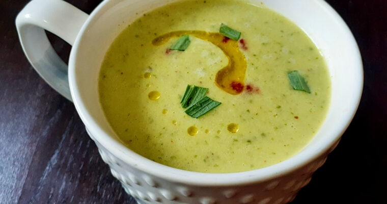Cold Tarragon Cucumber Soup