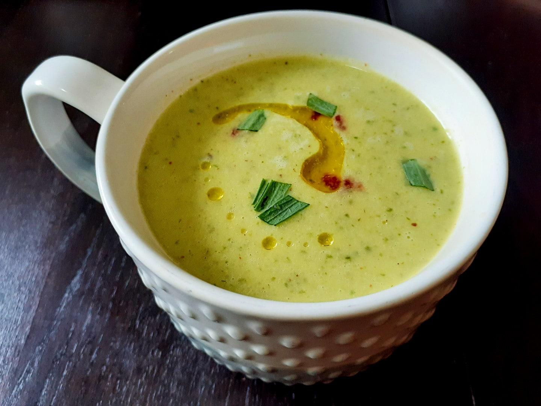 Cold Tarragon Cucumber Soup
