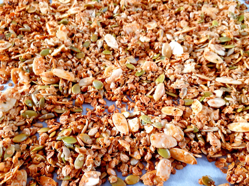 Rosemary and honey granola