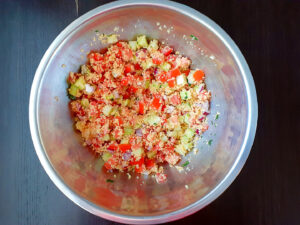 Couscous salad in a bowl