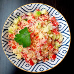 Couscous salad in a bowl