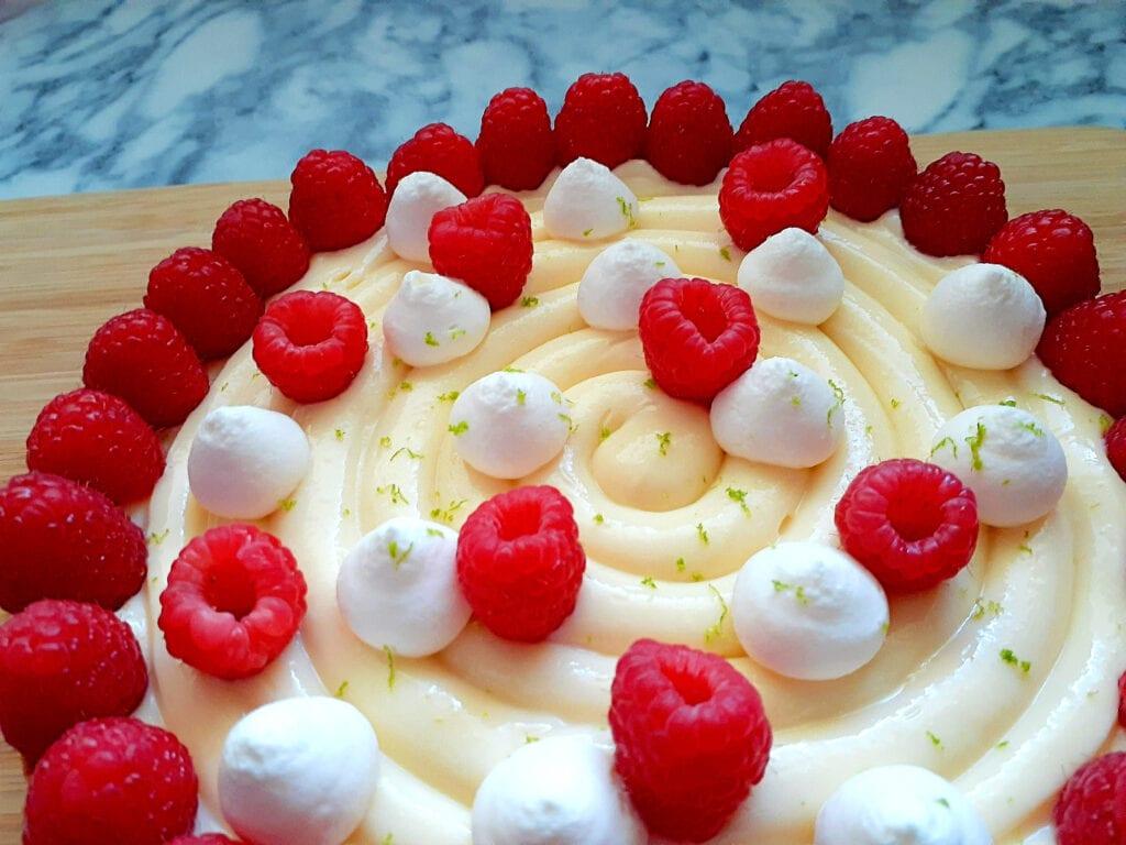 Lemon and raspberry tart