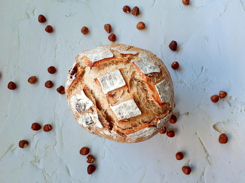 Rustic Rye Hazelnut Bread