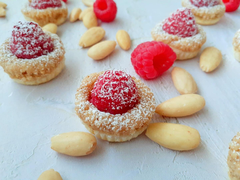 Mini Raspberry and Almond Tarts | GF, DF