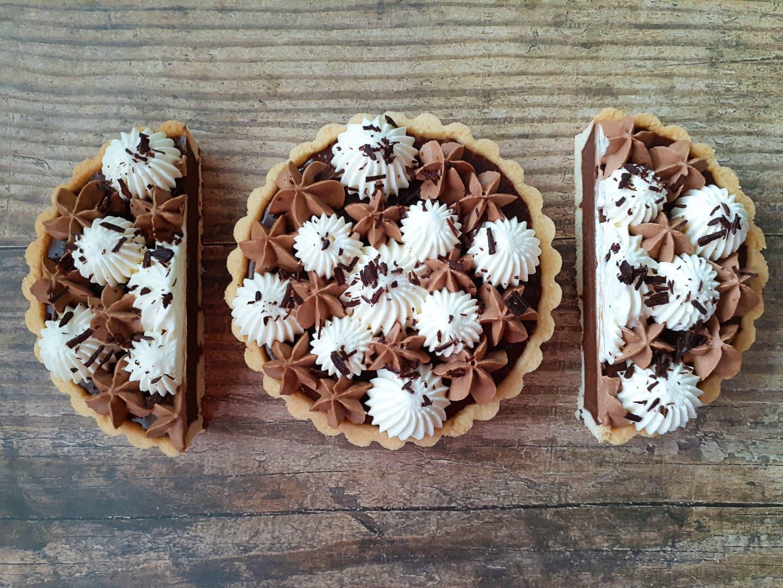 Triple Chocolate Tarts