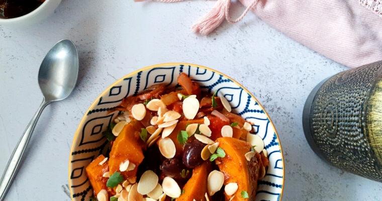 Winter squash tagine in a bowl